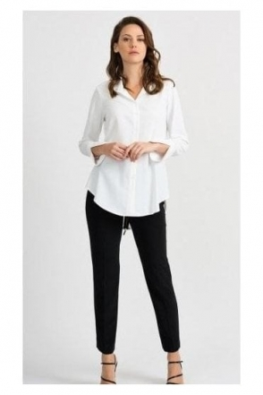 Back Zip Detail Shirt - Vanilla - 201081