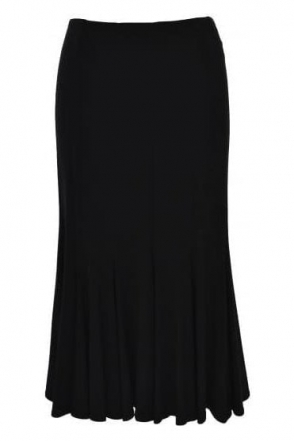 Basic A-Line Skirt - Black - 163084