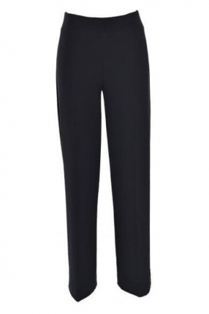 Basic Mid-Rise Wide Leg Trousers - 153088H