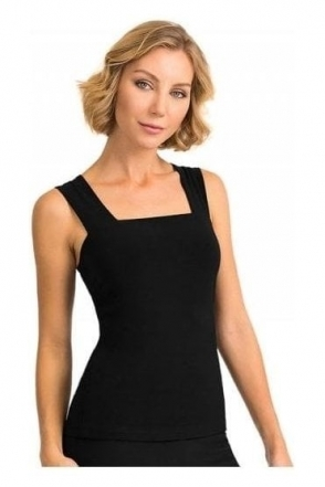 Basic Square Neckline Camisole - Black - 143132