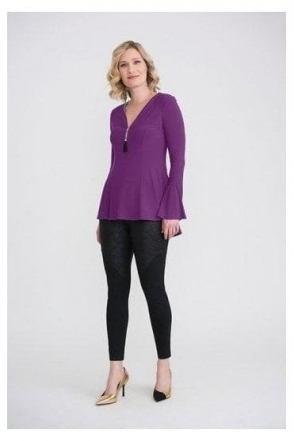 Bead Zip Detail Top - Ultra Violet- 204383