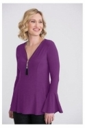 Joseph Ribkoff Bead Zip Detail Top - Ultra Violet- 204383