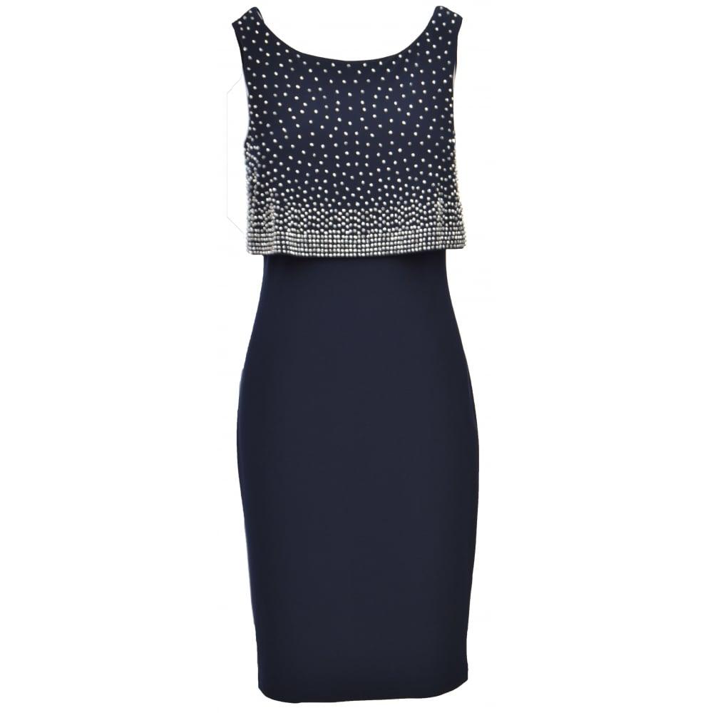 Joseph Ribkoff Beaded Embellished Layer Dress 173026 P1108