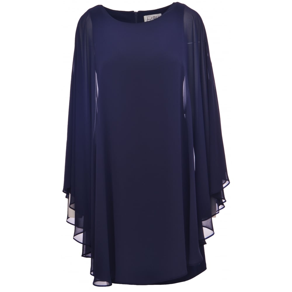 Joseph Ribkoff | Chiffon Sleeved Cape Dress | 164260 | Bentleys Banchory