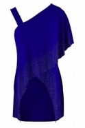 Joseph Ribkoff Cross Overlay Embellished Top - Royal Sapphire - 192074