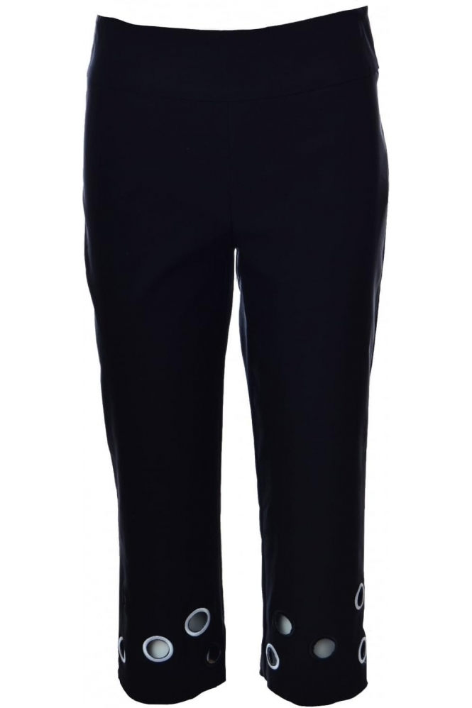 Joseph Ribkoff Cut Out Detail Capri Trousers - 182644