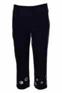 Joseph Ribkoff Cut Out Detail Capri Trousers (Black) - 182644