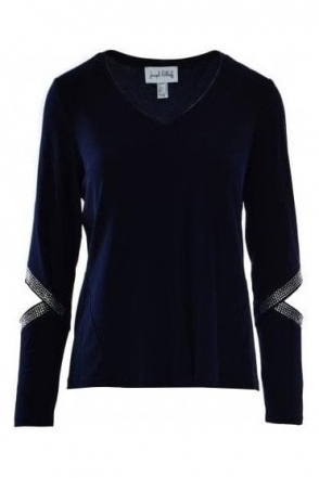 Cut Out Detail Top (Navy) - 184141