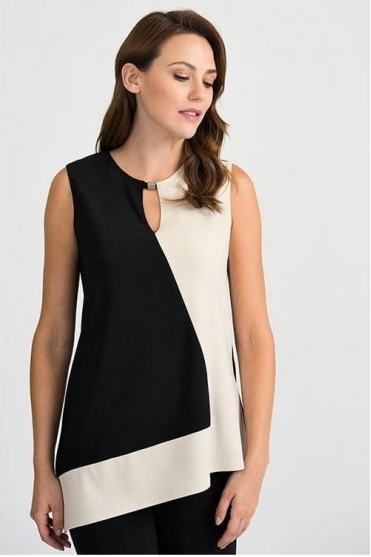 Cut Out Detail Tunic - Black/Champagne - 201413