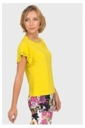 Joseph Ribkoff Diamante Embellished Top - Chartreuse - 192127