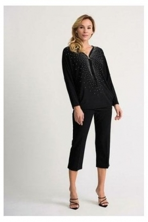 Embellished Detail Tunic - Black - 201145