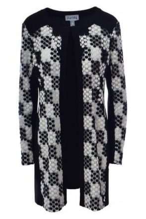 Embroidered Panel Cover Up (Black/White) - 181843