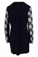 Joseph Ribkoff Embroidered Panel Cover Up (Black/White) - 181843