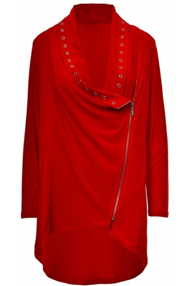 Eyelet Detail Zip Cover Up - 183146
