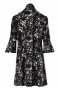 Joseph Ribkoff Floral Bow Detail Jacket (Black) - 183530