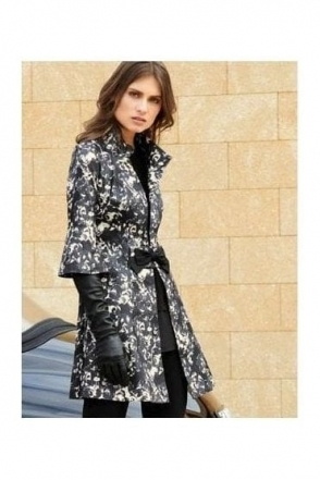 Floral Bow Detail Jacket (Black) - 183530