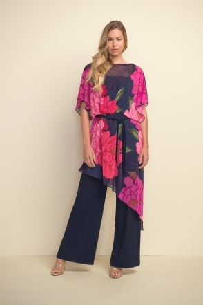 Floral Chiffon Overlay Jumpsuit - Multi - 211007