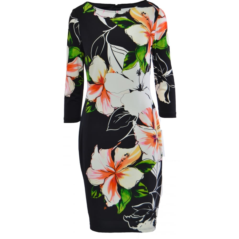ad586edf344 Joseph Ribkoff Floral Midi Dress - 161629. Click to enlarge