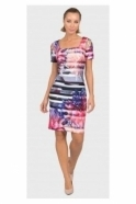 Joseph Ribkoff Floral Print Cut Out Detail Dress - 192712