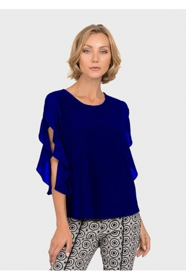 Frill Sleeve Detail Top - Royal Sapphire - 192256