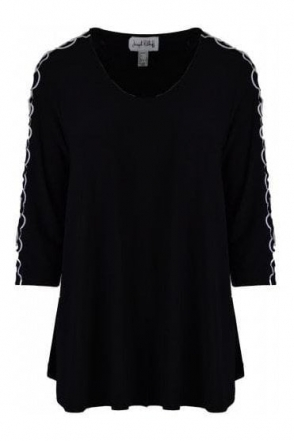 Frill Sleeve Detail Tunic (Black) - 191139