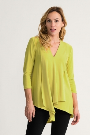Front Panel Drape Top - Limelight - 161066J-3774