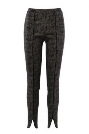 Geometric Print Slim Fit Trousers - 183525