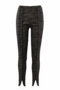 Joseph Ribkoff Geometric Print Slim Fit Trousers (Black/Taupe) - 183525