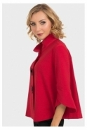 Joseph Ribkoff High Collar Button Detail Jacket - Lipstick Red - 193198