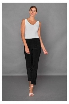 High Elastic Waist Laurie Trousers - Black - 143105-11