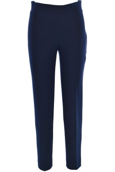 High Elastic Waist Laurie Trousers - Midnight - 143105