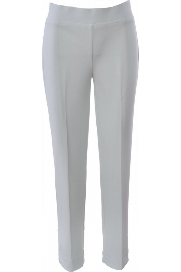 High Waist Slim Leg Trousers - 144092
