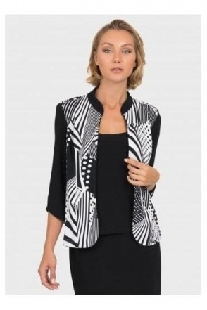 Illusion Print Mock Camisole Jacket - 192820