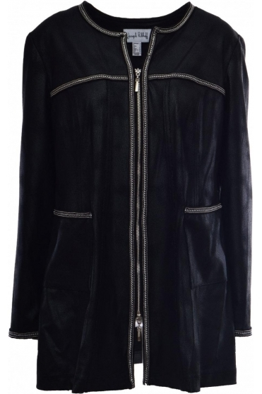 Longline Faux Leather Jacket - 184381