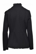 Joseph Ribkoff Military Frill Button Detail Jacket (Black) - 173237