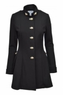 Joseph Ribkoff Military Longline Button Detail Jacket (Black) - 173308
