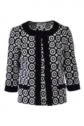 Monochrome Circular Print Jacket (Black/White) - 182530