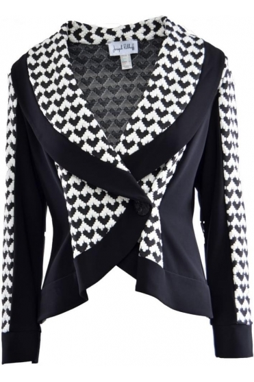 Monochrome Dogtooth Panel Jacket (Black) - 163886