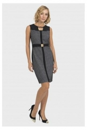 Monochrome Print Dress - 193822
