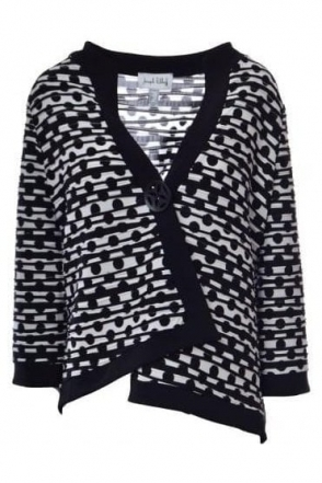 Monochrome Spot Print Jacket (Black/White) - 182777