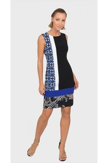 Multi Print Dress (Black/Multi) - 192799
