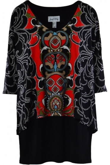Paisley Print Double Layer Tunic - 184674