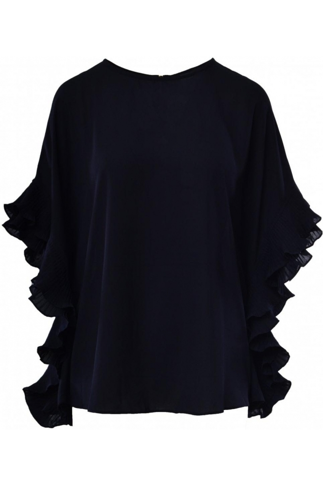 Joseph Ribkoff Pleated Frill Detail Blouse - 183299