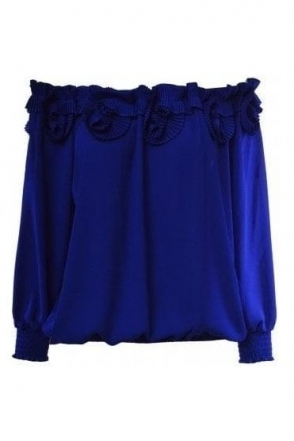 Pleated Frill Detail Blouse - 191254