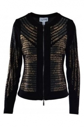 Rhinestone Embellished Jacket (Black) - 183226