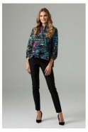 Joseph Ribkoff Rib Textured Swing Jacket - Black/Multi - 203668