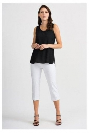 Round Neck Dipped Hem Camisole - Black - 201231
