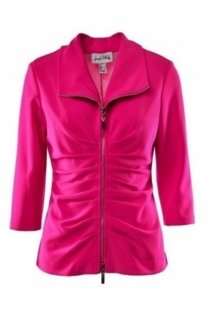 Ruched Lightweight Jacket (Neon Pink) - 191196