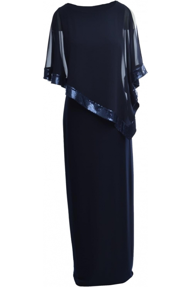 Joseph Ribkoff Sequin Detail Cape Gown - L154377