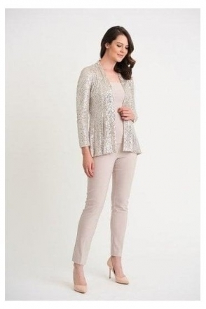 Sequin Detail Cover Up - Silver/Nude - 204192